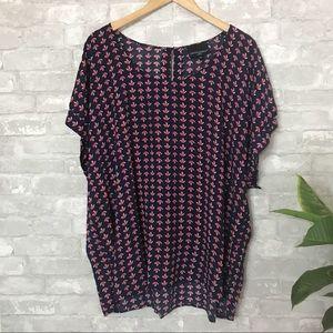 Cynthia Rowley anchor printed blouse